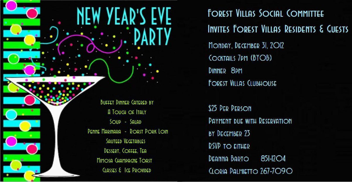 Printable New Years Eve Party Invitations Free – New Year Invitation Template