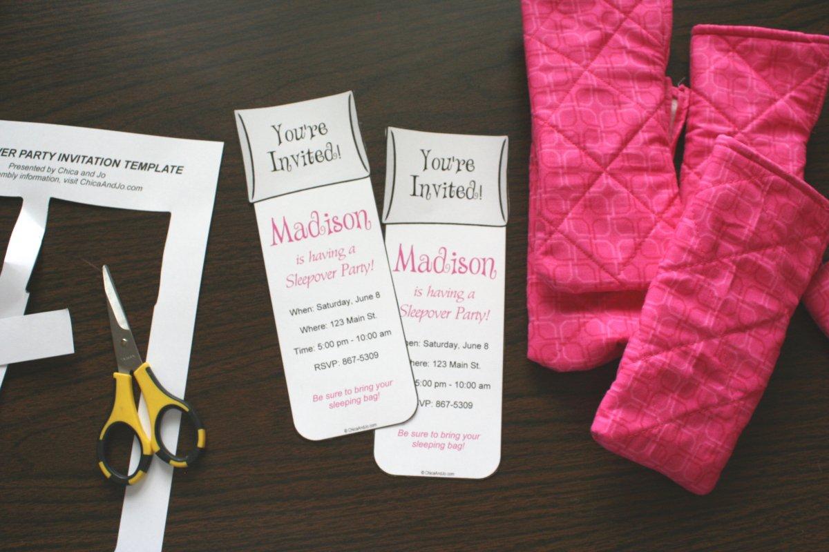 Pajama Party Invitations Free Printable 2016