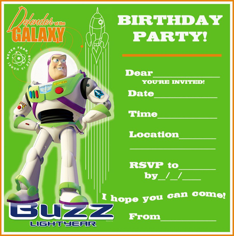 Party Invitations Free Printable For Kids 2018