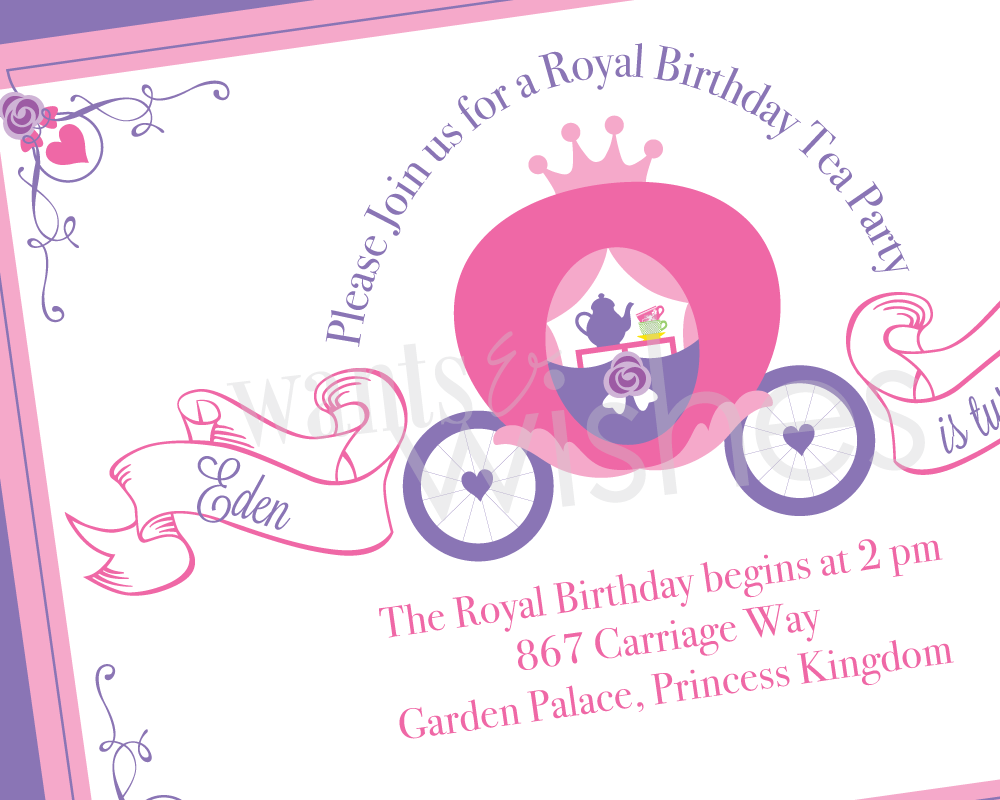 Princess Tea Party Invitations Free Printable
