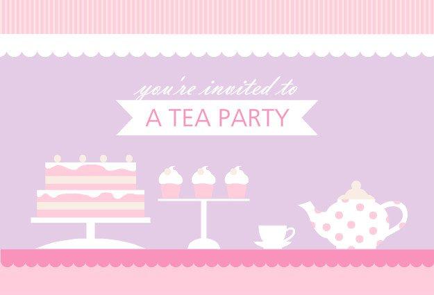 Princess Tea Party Printable Invitations 2018
