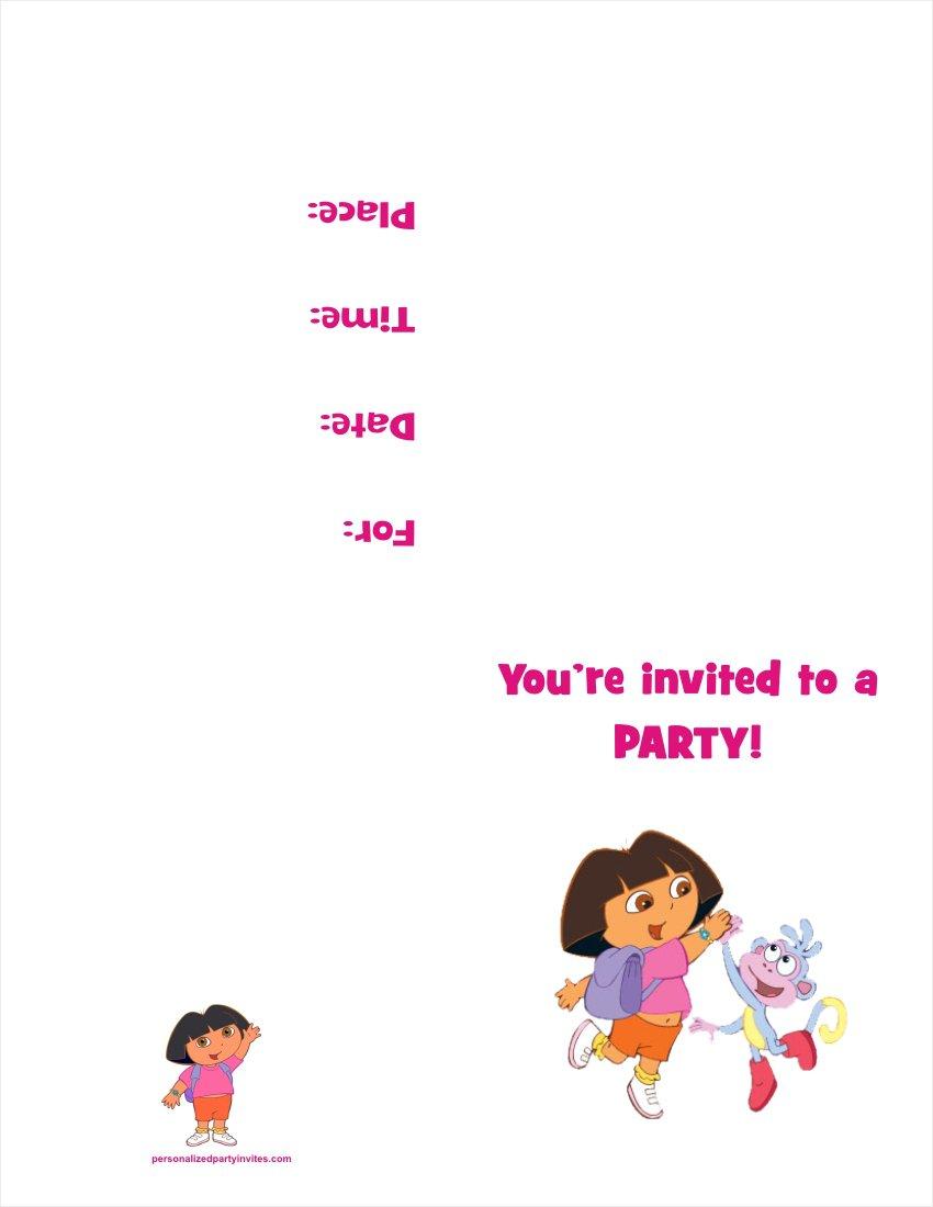 Print Dora Invitations