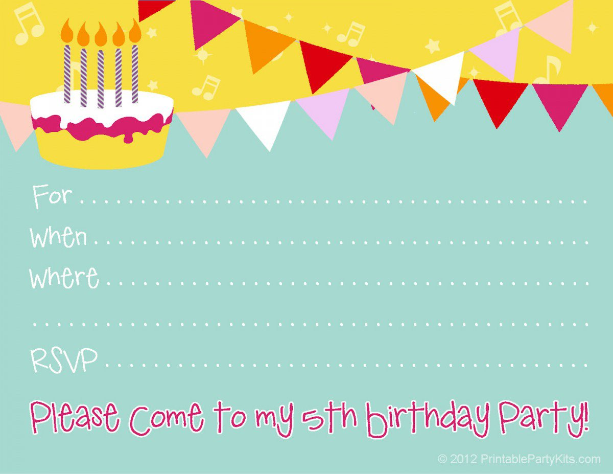 Printable 1st Birthday Invitation Templates 2016