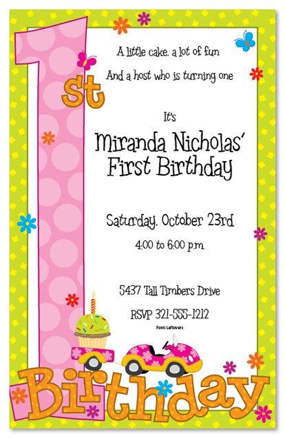 Printable 1st Birthday Invitations 2016
