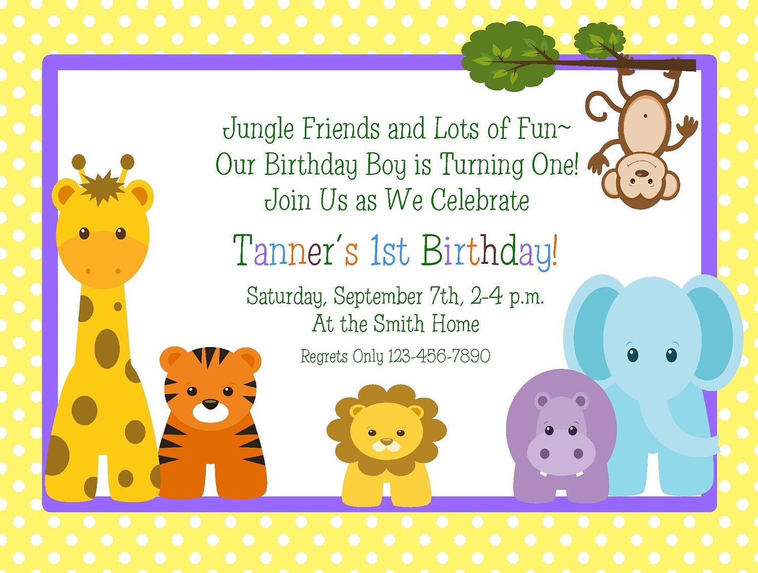Printable 1st Birthday Invitations For Boys
