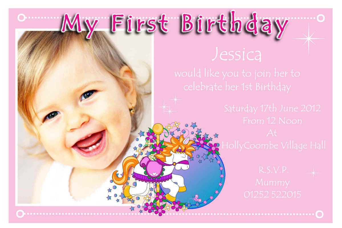 Printable 1st Birthday Invitations For Girls 2017
