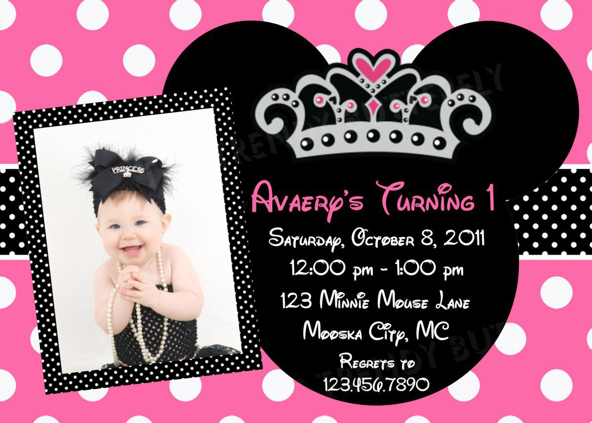 Printable 1st Birthday Invitations For Girls