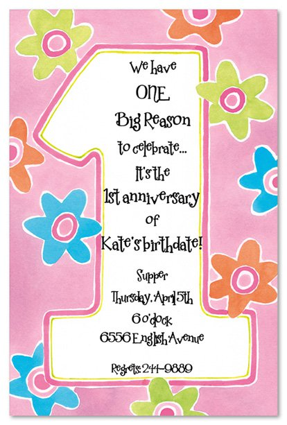 printable 1st birthday invitations girls