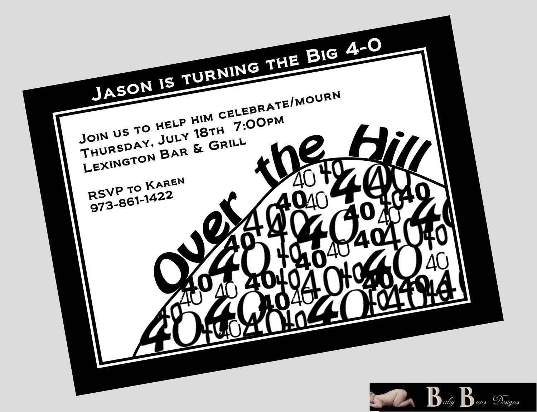 Printable 40th Birthday Invitations For Men