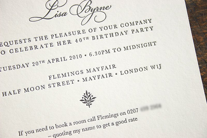 Printable 40th Birthday Party Invitations 2015