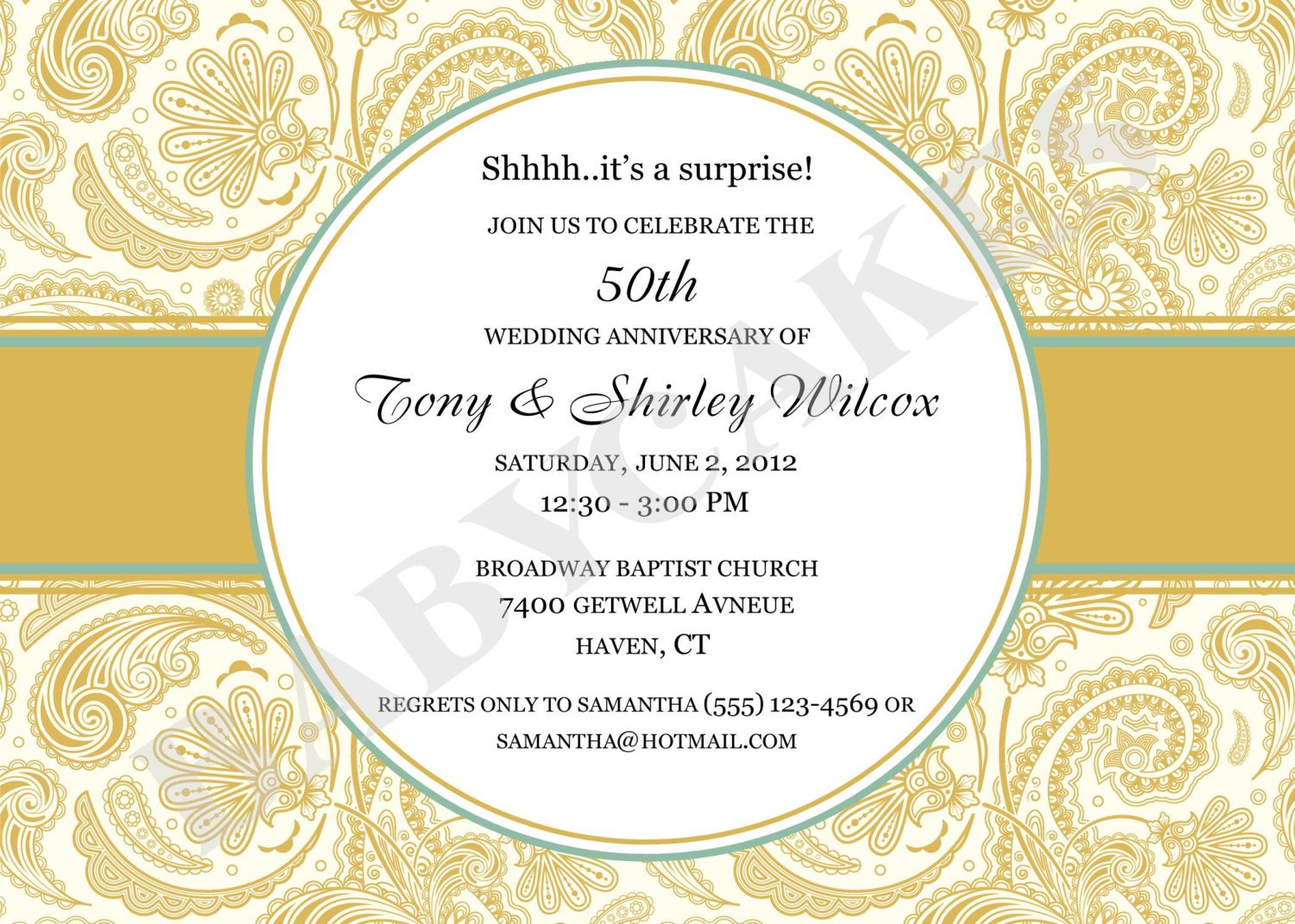 Printable 50th anniversary invitations printable 50th anniversary invitation kits stopboris