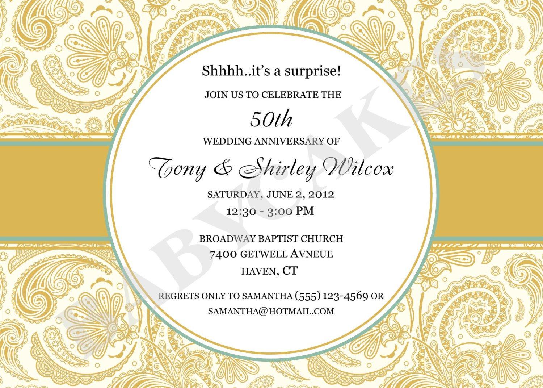 Printable 50th anniversary invitations printable 50th anniversary invitation kits stopboris Images