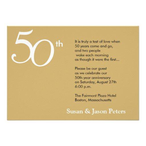 Printable 50th Anniversary Invitations Free 2015