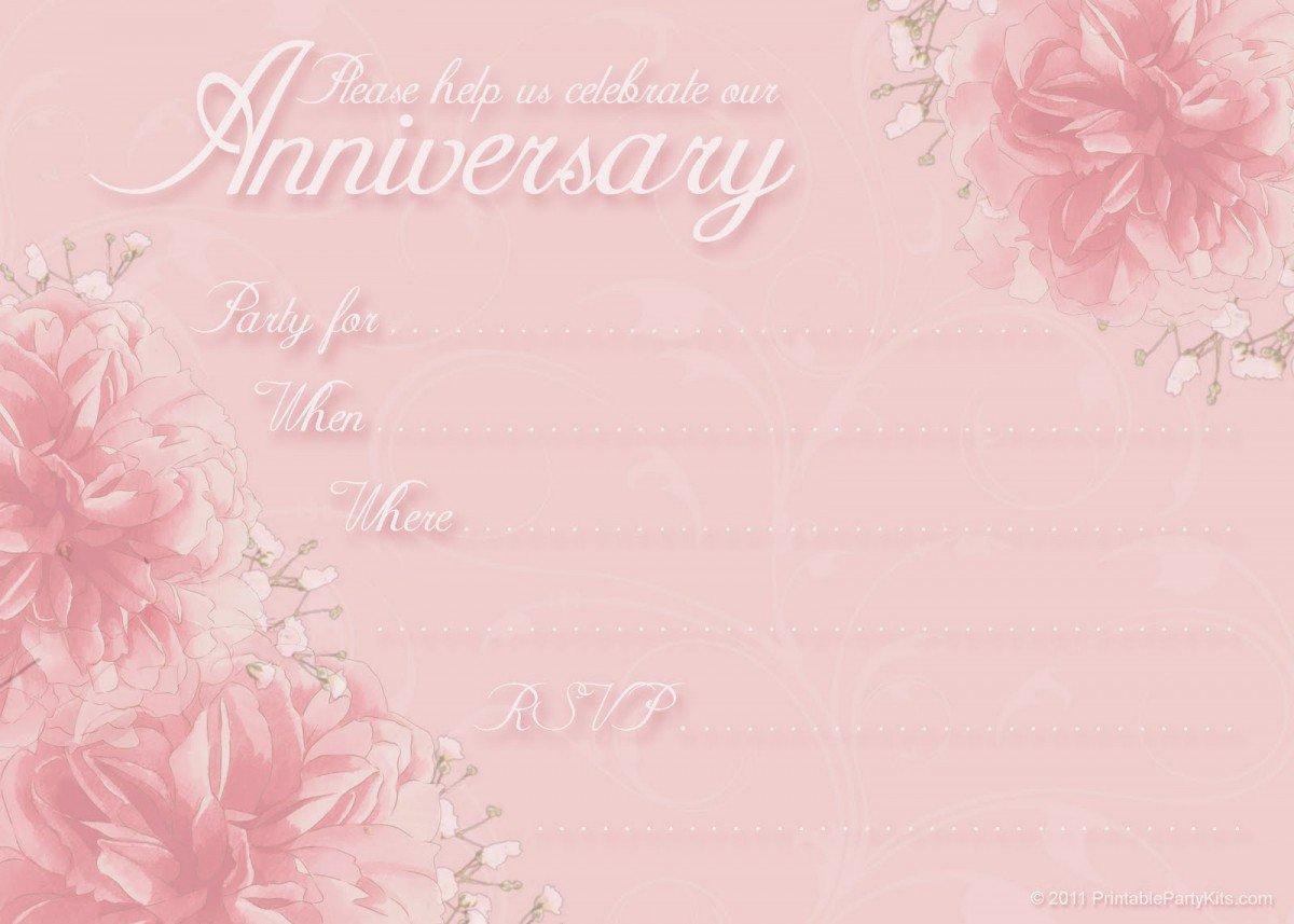 Printable 50th Anniversary Invitations Free 2016