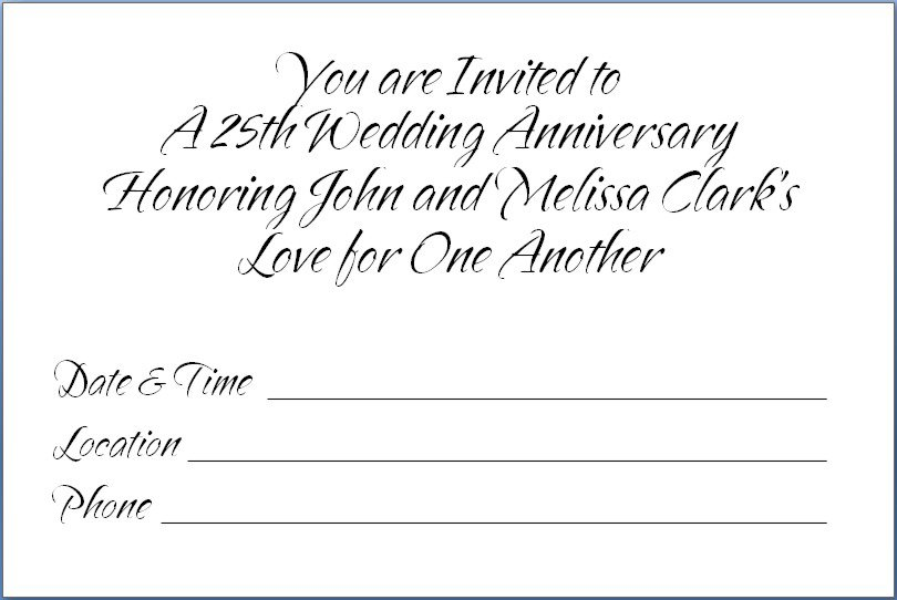 Printable 50th Anniversary Invitations Free 2018