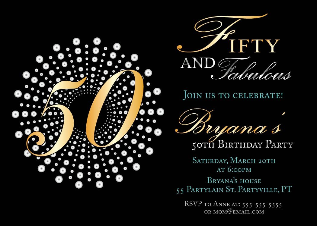 Printable 50th Birthday Invitations Free