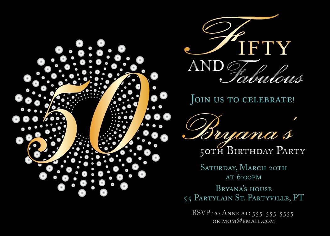 Printable 50th Birthday Invitations Free