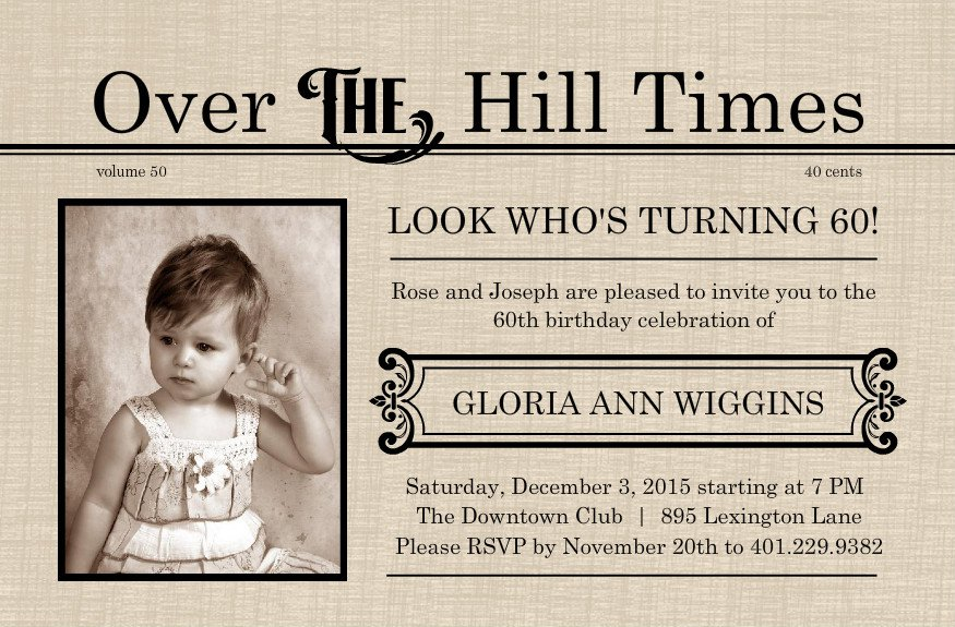 Printable 60th Birthday Invitation Templates 2016