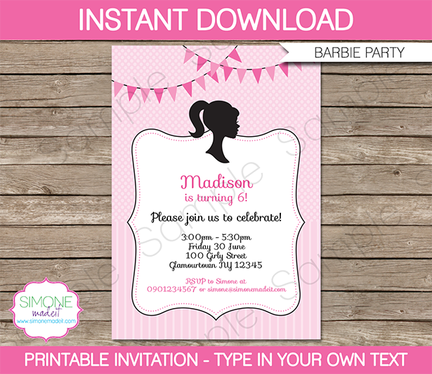 Printable 7th Birthday Invitation Templates 2016