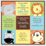 Printable Animal Baby Shower Invitations