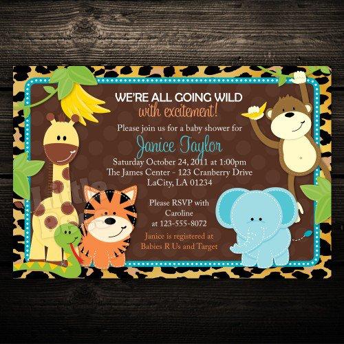 Printable Animal Print Birthday Invitations 2016