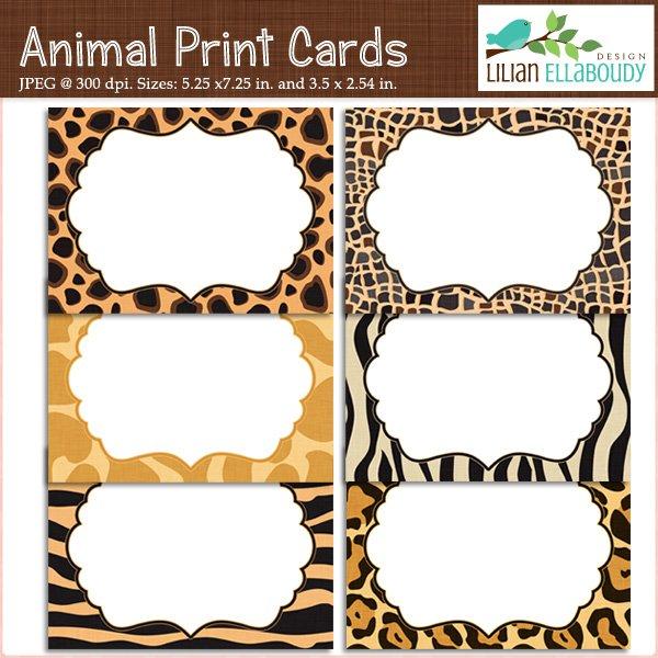 Printable Animal Print Birthday Invitations 2017