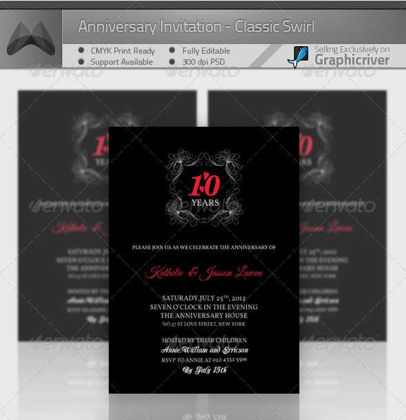 Printable Anniversary Invitations Templates 2015