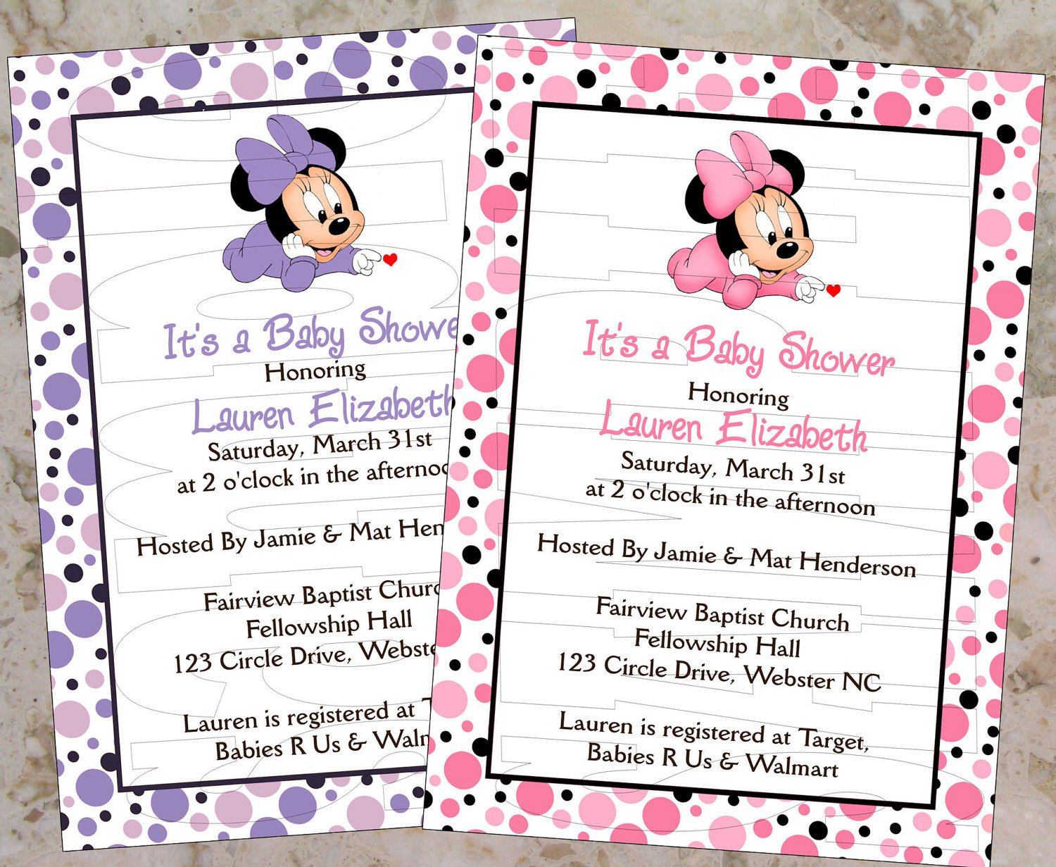 Printable Baby Minnie Mouse Invitations