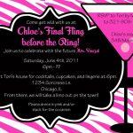 Printable Bachelorette Party Invitation Ideas