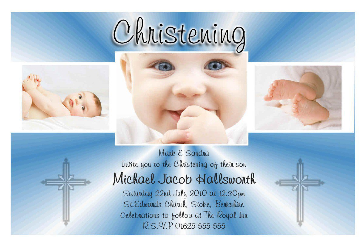 Printable Baptism Invitations Templates 2017