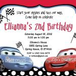 Printable Birthday Invitations Disney Cars