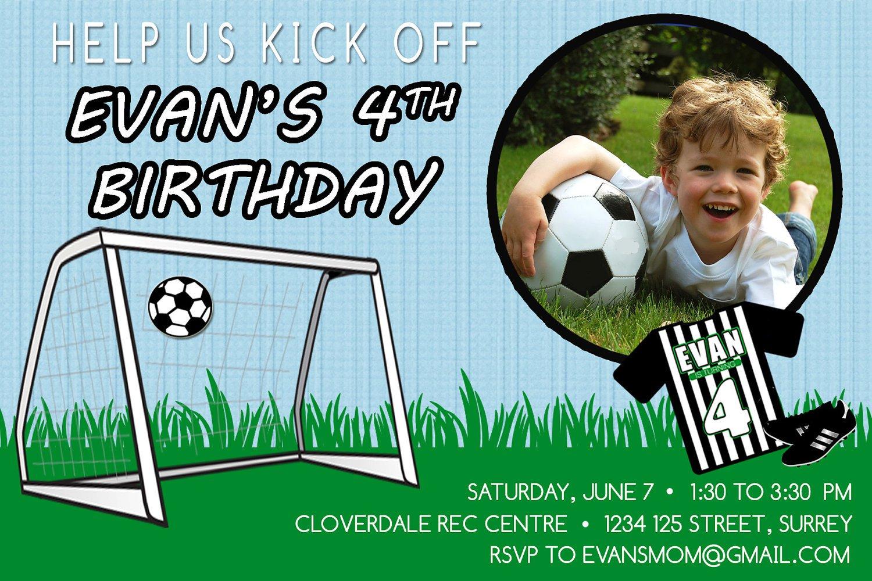 Printable Birthday Invitations Football – Football Themed Birthday Invitations