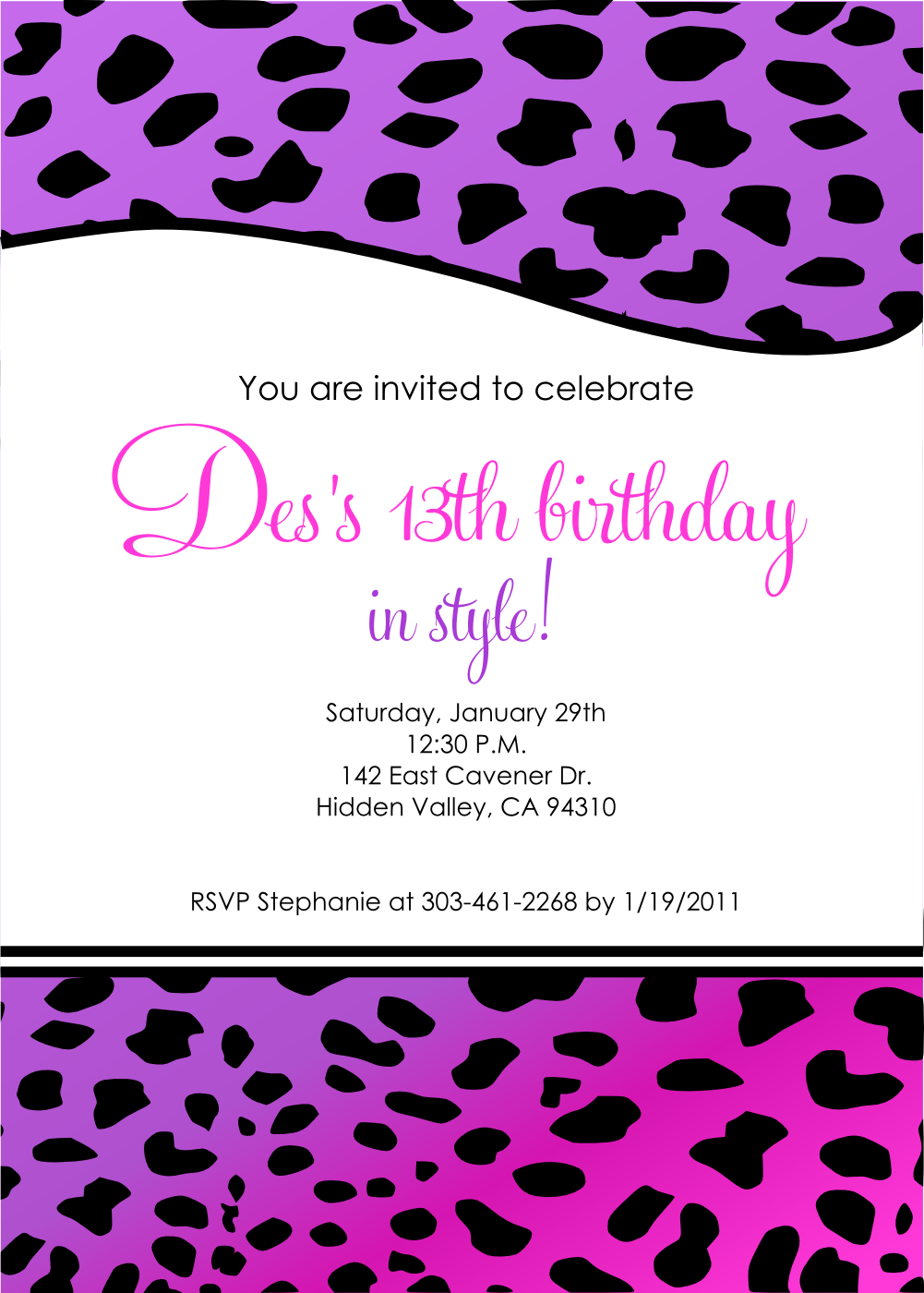 Printable Birthday Invitations For Kids Free 2017