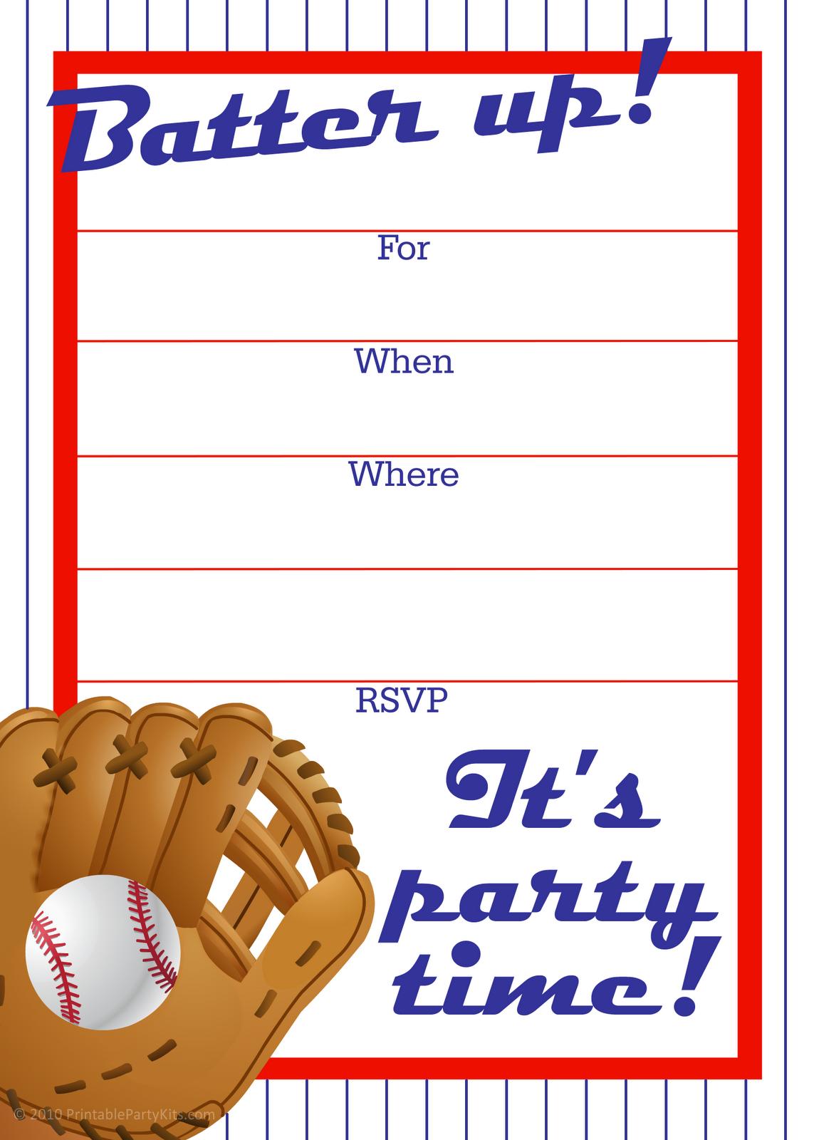 Printable Birthday Invitations Templates Free
