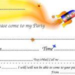 Printable Birthday Party Invitations For Boys