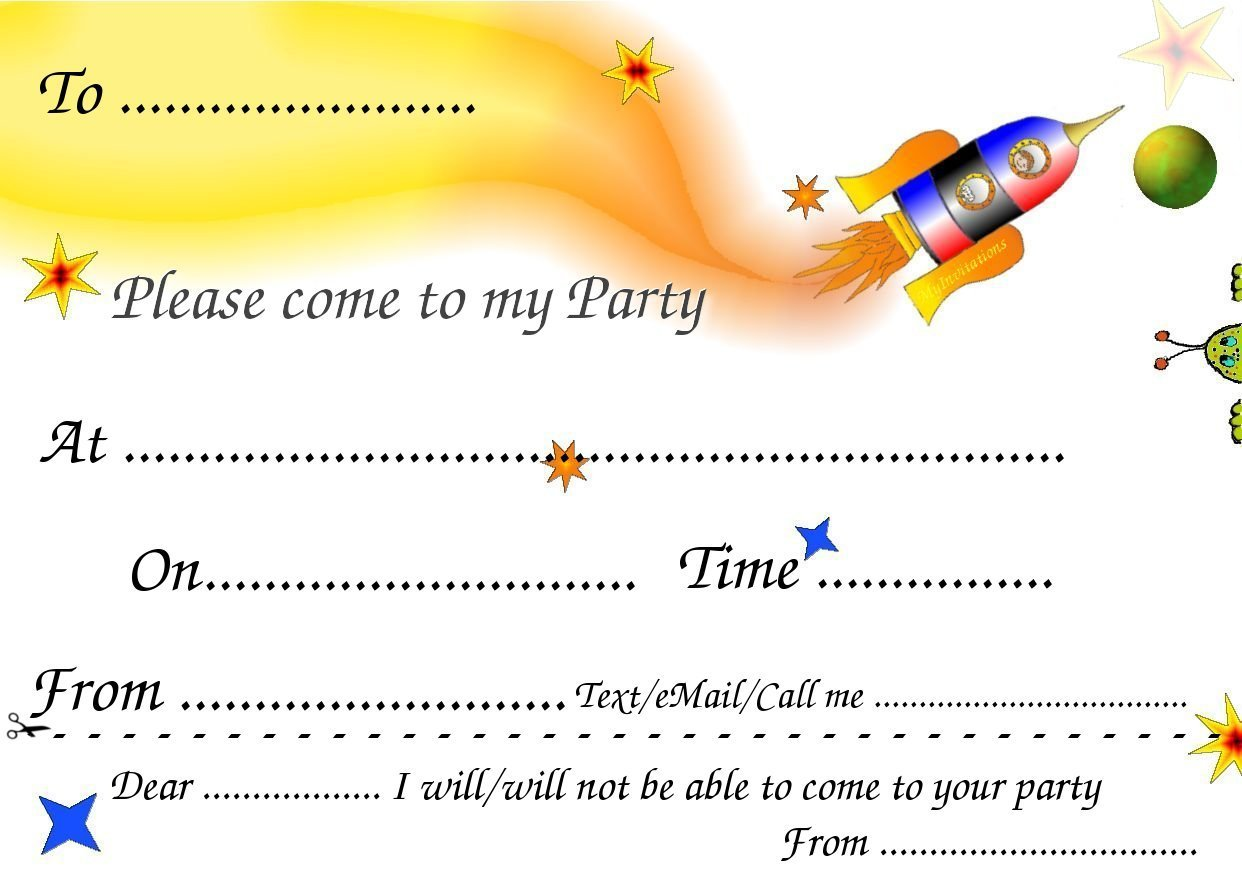 Printable Birthday Party Invitations For Boys