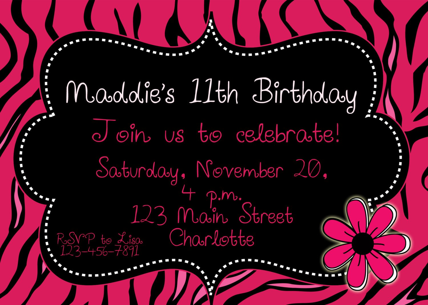Printable Birthday Party Invitations Free Girls
