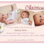 Printable Christening Invitation Card