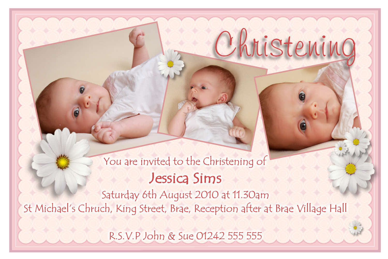 Printable Christening Invitation Card