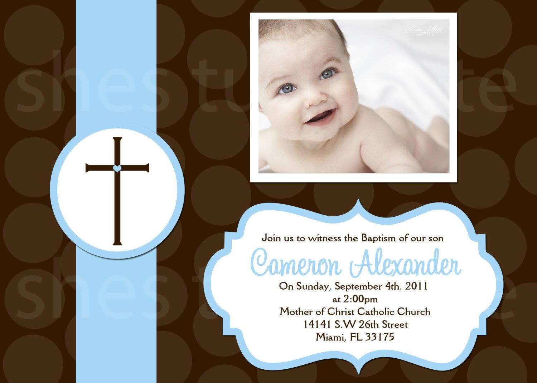 Printable Christening Invitation For Baby Boy
