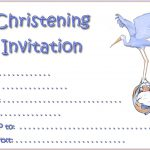 Printable Christening Invitations For Baby