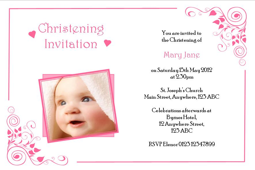 Printable Christening Invitations For Girls 2015