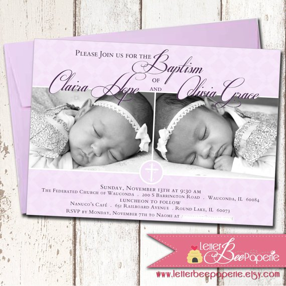 Printable Christening Invitations For Girls 2018