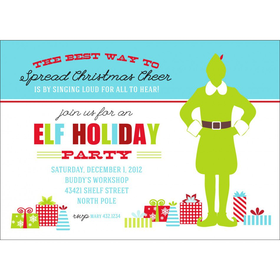 Printable Christmas Party Invitation Cards