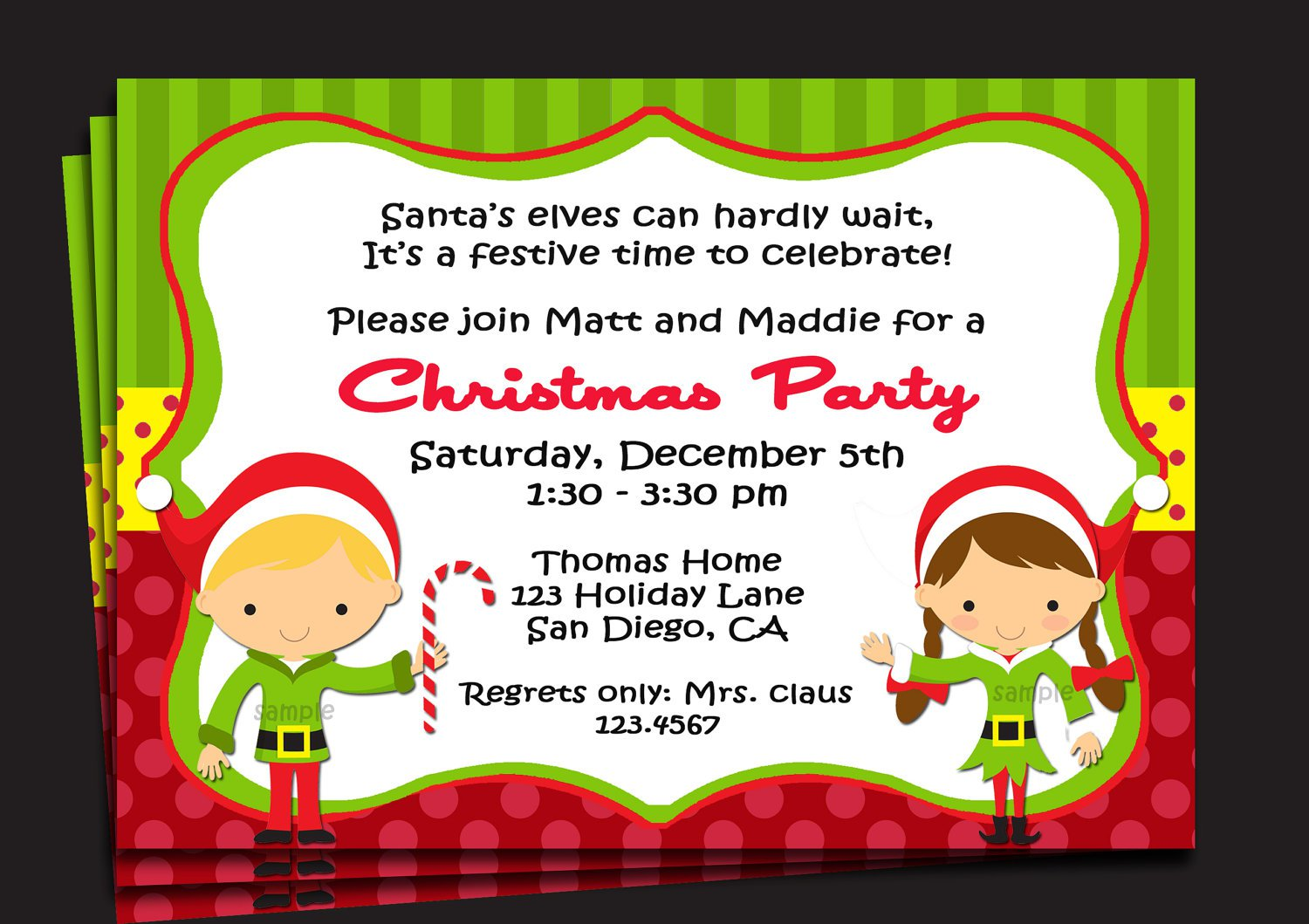 Printable Christmas Party Invitations For Kids