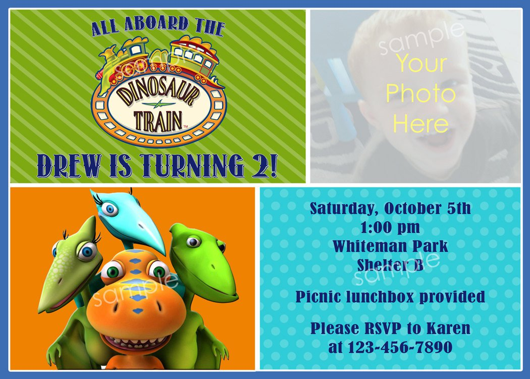 Printable Dinosaur Train Invitations