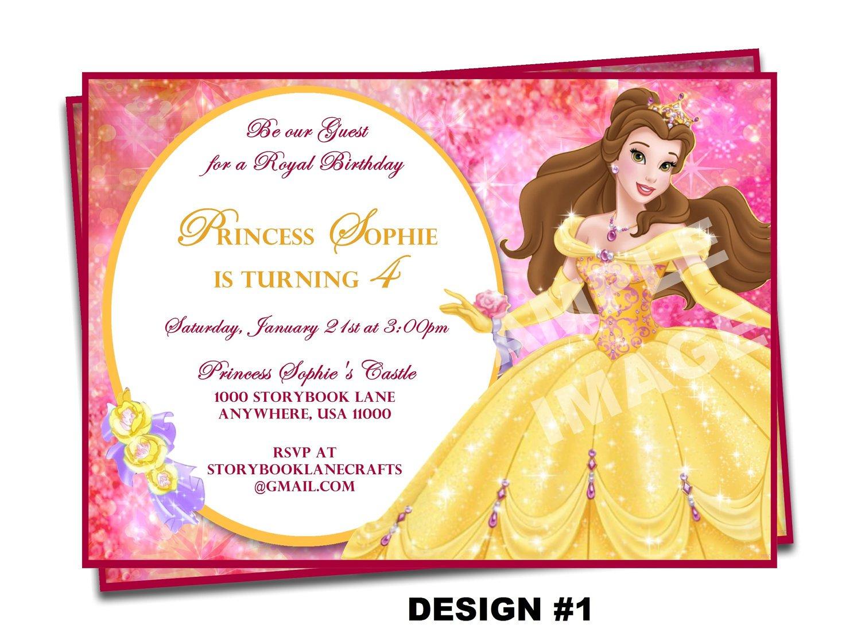 Printable Disney Birthday Invitations For Kids