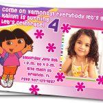 Printable Dora Birthday Invitations Cards