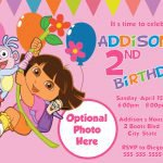 Printable Dora Invitations Free