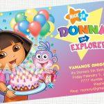 Printable Dora Party Invitations